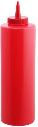Диспенсер пластиковый для соусов и сиропов красного цвета V 350 мл (шт)