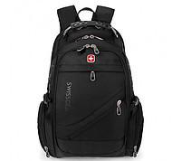 Рюкзак swiss bag 8076 черный, фиолетовый, красный, серый