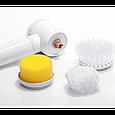 Универсальная электрическая щетка для уборки Magic Brush 5 в 1 с насадками, фото 3