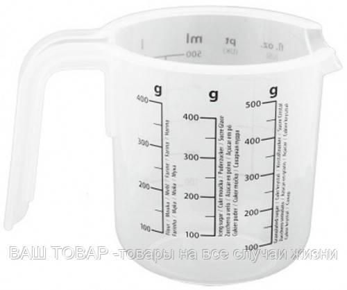 Мерный стакан пласт. с ручкой 1000мл.