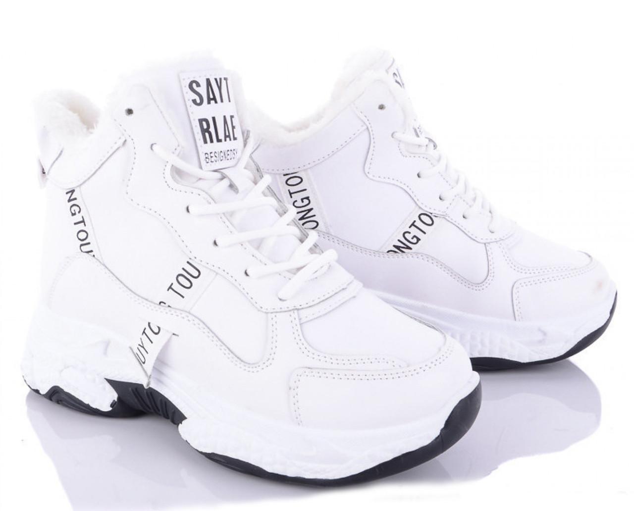 Женские зимние кроссовки белые высокие 1258531799