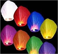 Небесные фонарики  Купол ,1 метр ,разных цветов