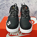 Кросівки Air Force Just Do It Black-Red, фото 3