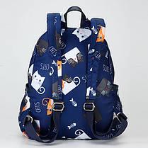 Рюкзак міський молодіжний модний принт Котики Dolly 386, фото 3