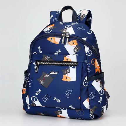 Рюкзак міський молодіжний модний принт Котики Dolly 386, фото 2