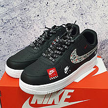 Кроссовки Air Force Just Do It Black-Red