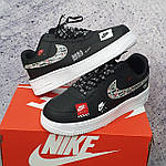 Кросівки Air Force Just Do It Black-Red, фото 2