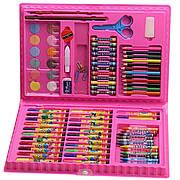 Детский набор для рисования 86 предметов РОЗОВЫЙ