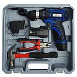 Шуруповерт аккумуляторный Витязь ДА-12/2ЛН с набором инструментов, фото 3