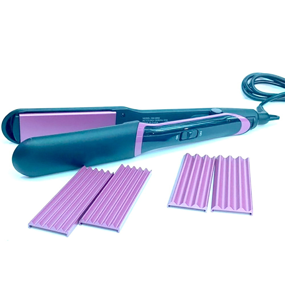 Утюжок для волос гофре плойка 3 в 1 Gemei GM-2859 + ПОДАРОК: Настенный Фонарик с регулятором BL-8772A
