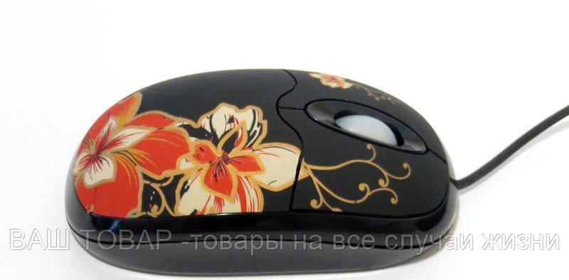 Мышь USB MA-MTA06K/В-178 цветок