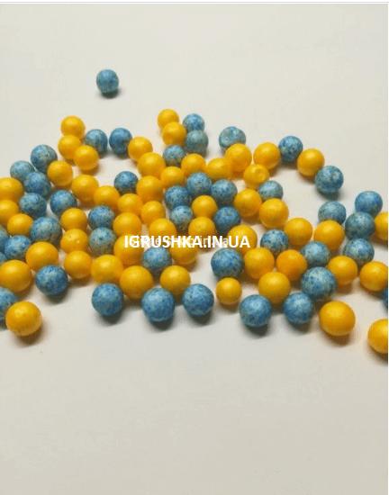 Пенопластовые шарики для слайма «Микс голубых и желтых», 7-9 мм
