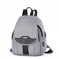 Рюкзак городской молодежный женский модный серый много карманов Dolly 377