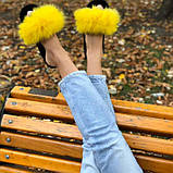 Женские домашние тапочки из фетра пушистики цвета Восход Солнца, Family Story, фото 4