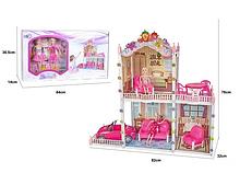 Домик для кукол 66921, 2 куклы, машинка