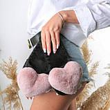 Женские домашние тапочки с сердечками Лососевого цвета, Family Story, фото 3