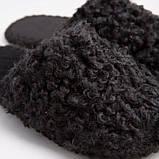 Мужские домашние тапочки закрытые барашки Черного цвета, Family Story, Свой размер (n0508-f), фото 5