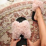 Женские домашние тапочки барашки иксики Розового цвета, Family Story, фото 2