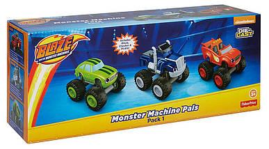 Fisher-Price Набор Вспыш и чудо машинки (Вспыш, Крушила, Огурчик 3 шт.) Blaze & the Monster Machines, фото 2
