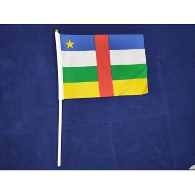 Прапорець Центральноафриканської Республіки (ЦАР) 14х21см на пластиковому флагштоку