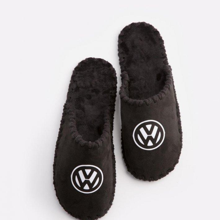 Мужские домашние тапочки Volkswagen черные закрытые, Family Story, Свой размер (n0101010-fw)