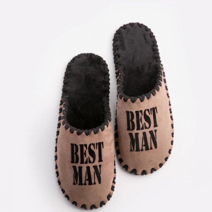 Мужские домашние тапочки Best Man мокко закрытые, Family Story, 46-47 (n0102001-47fb)