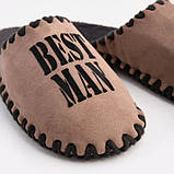 Мужские домашние тапочки Best Man мокко закрытые, Family Story, 46-47 (n0102001-47fb), фото 3