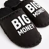 Чоловічі домашні тапочки Big Money чорні закриті, Family Story, 46-47 (n0101012-47fw), фото 4