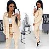 Вельветовый костюм женский светло-бежевый АА/-111370