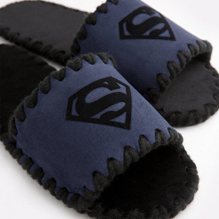Мужские домашние тапочки Superman темно-синие открытые, Family Story, 44-45 (u0105016-45fb)