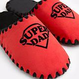Мужские домашние тапочки Super Dad красные закрытые, Family Story, Свой размер (n0104025-fb), фото 4
