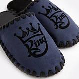 Мужские домашние тапочки King темно-синие закрытые, Family Story, 42-43 (n0105029-43fb), фото 2