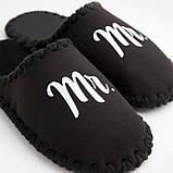 Мужские домашние тапочки Mr черные закрытые, Family Story, фото 4