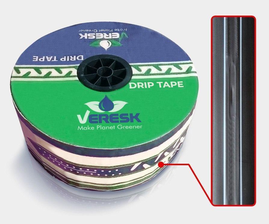 Щелевая лента для капельного полива Veresk 7 mil 10 см (300 м) намотка