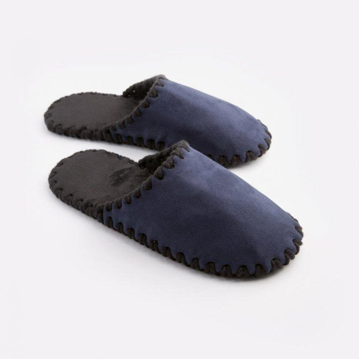 Мужские домашние тапочки темно-синие закрытые, Family Story, 46-47 (n0105-47f)