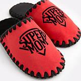 Женские домашние тапочки Super Mom красные закрытые, Family Story, 36-37 (n0104024-37fb), фото 4