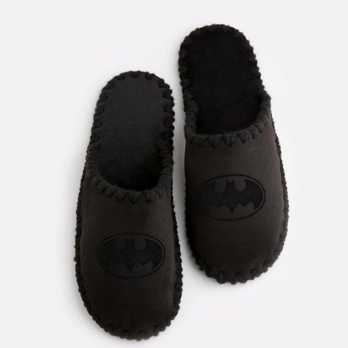 Мужские домашние тапочки Batman черные закрытые, Family Story