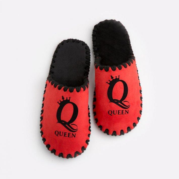 Женские домашние тапочки Queen красные закрытые, Family Story, 36-37 (n0104030-37fb)