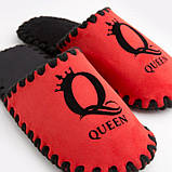 Женские домашние тапочки Queen красные закрытые, Family Story, 36-37 (n0104030-37fb), фото 3