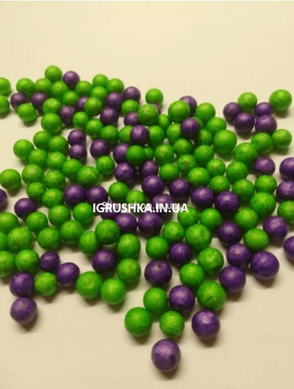 Пенопластовые шарики для слайма «Микс зеленых и фиолетовых», 7-9 мм