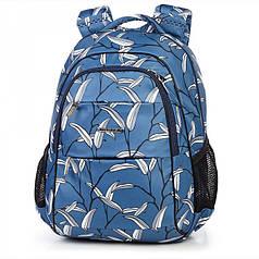 Школьный рюкзак ортопедический Dolly 544 для девочки подростка светло-синий