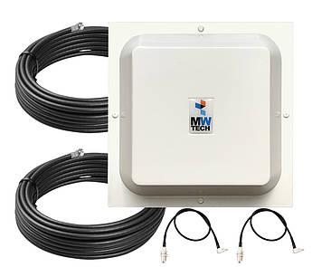 Антенна 3G/4G Arrow 1700-2700 МГц 2x15 dBi MIMO + кабель 2 шт + антенные переходники (530162)