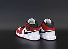 Мужские кроссовки Nike Air Jordan. White Red Black. ТОП Реплика ААА класса., фото 3