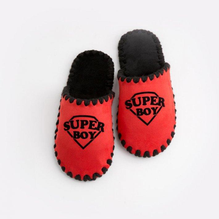 Детские домашние тапочки Super Boy красные закрытые, Family Story, Свой размер (n0104027-fb)