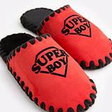Детские домашние тапочки Super Boy красные закрытые, Family Story, Свой размер (n0104027-fb), фото 4