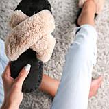 Женские домашние тапочки иксики Бисквитного цвета, Family Story, фото 4