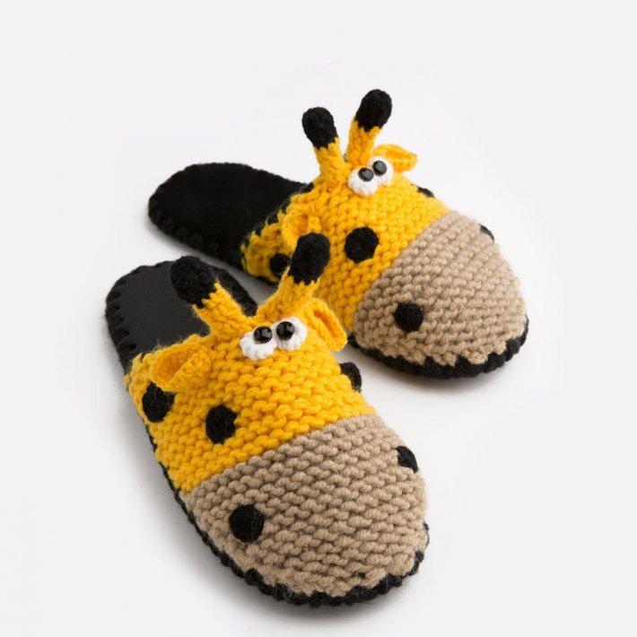 Домашние тапочки с мордочкой Жирафа, Family Story, 38-39 (ng1106-39f)