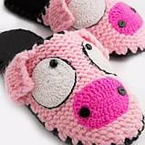 Домашние тапочки с мордочкой Свинки, Family Story, 38-39 (ng1110-39f), фото 3
