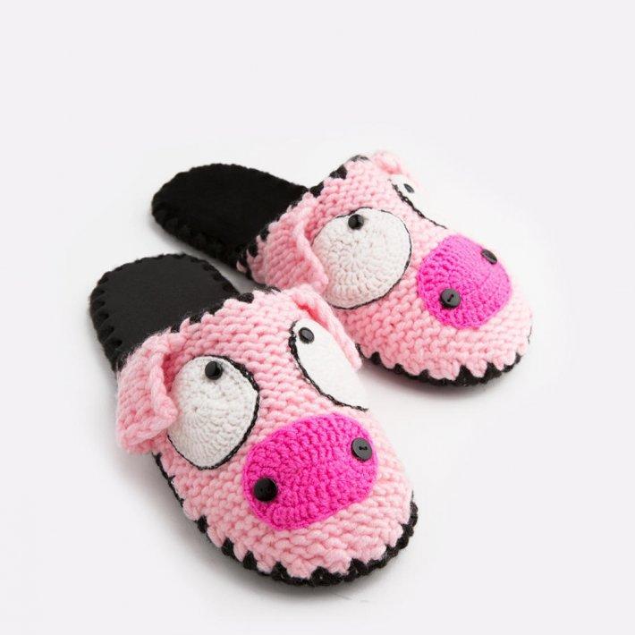 Домашние тапочки с мордочкой Свинки, Family Story, 44-45 (ng1110-45f)