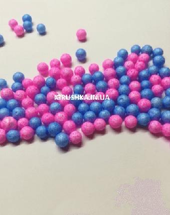 Пенопластовые шарики для слайма «Микс голубых и розовых», 7-9 мм, фото 2